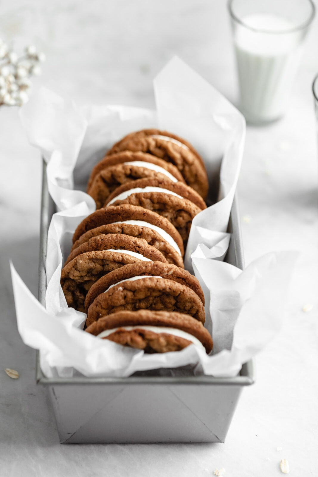 másolja zabpehely krémes pite cookie -kat