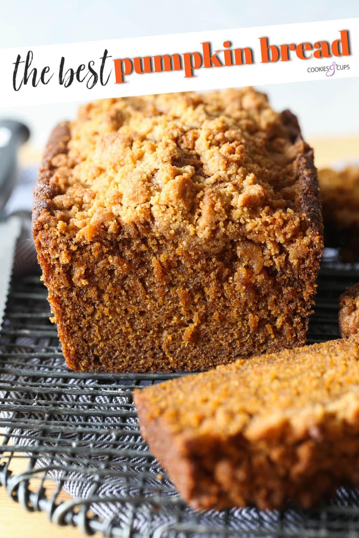 Pumpkin Bread recipe Pinterest Image