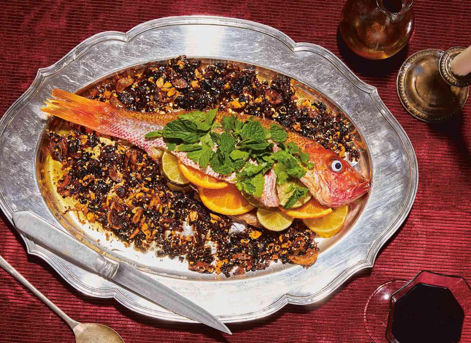 Egész sült hal