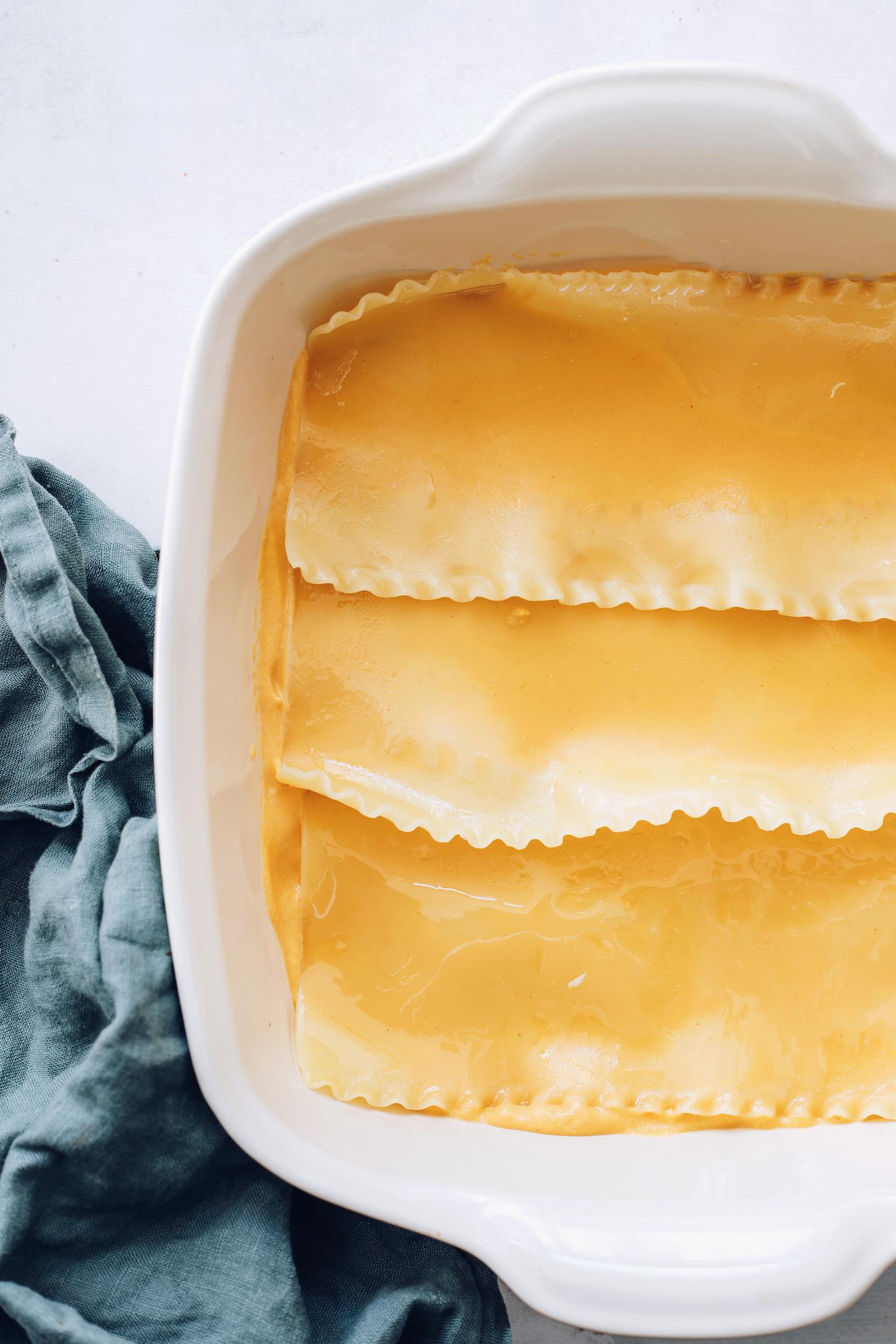 Butternut squash szósz lasagne tésztával