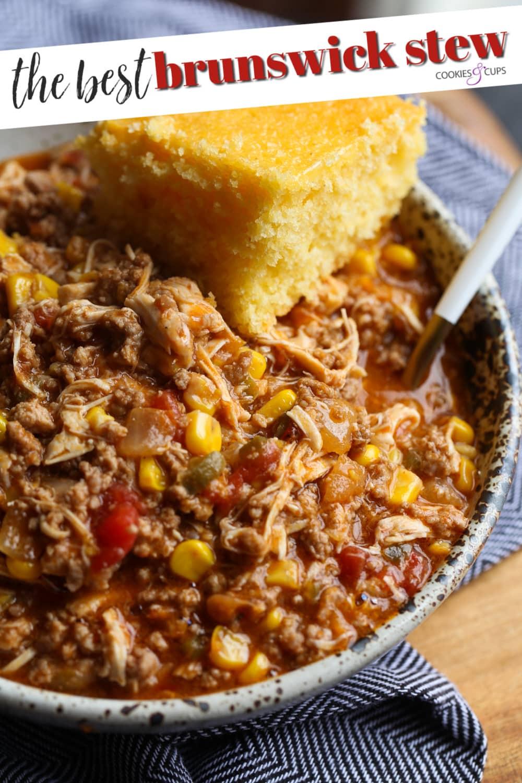 Pinterest image for Brunswick stew.