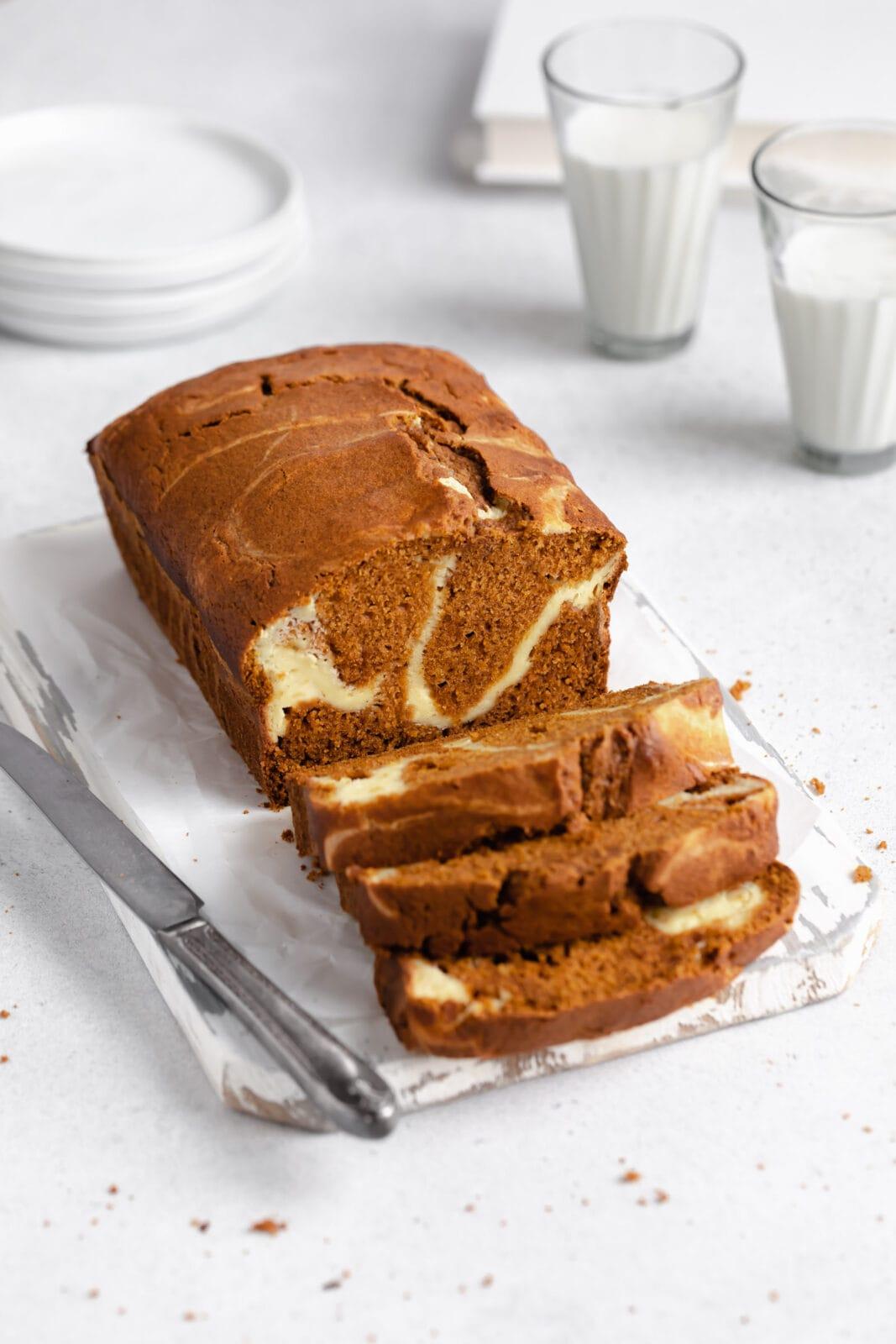 krémsajt kavargott tök kenyeret