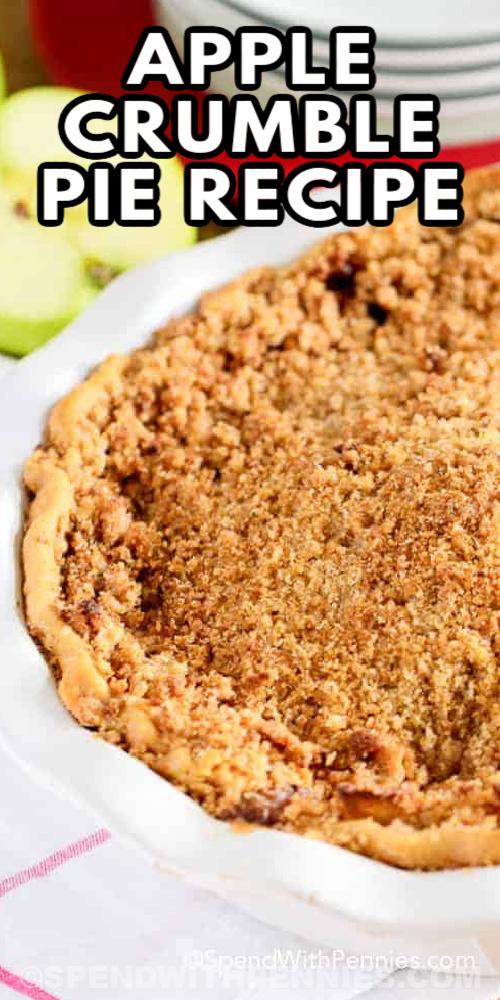 Apple Crumble Pie Recept szöveggel