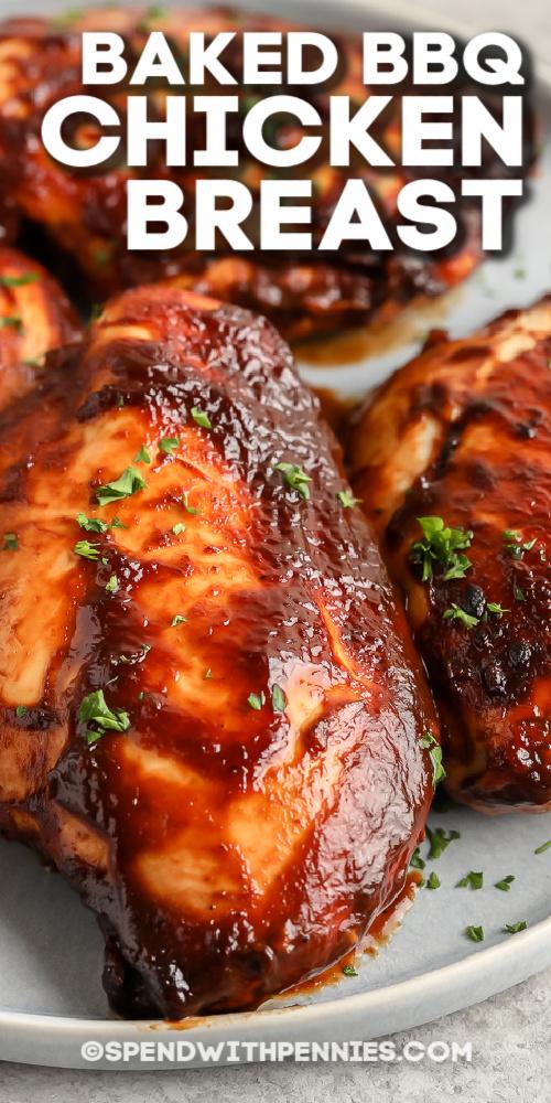 Sült BBQ csirkemell petrezselyemmel szöveggel